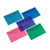 5 Star Office Pocket Polyfile Diskette Polypropylene A4 Assorted [Pack 5]