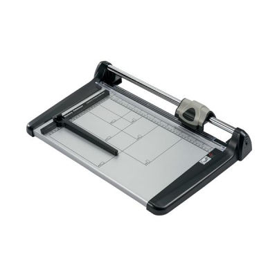 5 Star Office Trimmer Heavy Duty Steel Table Capacity 15 sheets 360mm A4 Silver/Black