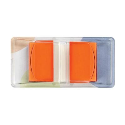 5 Star Standard Index Flags 50 Sheets per Pad 25x45mm Orange [Pack 5]