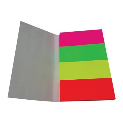 5 Star Index Flags Neon 20x50mm 50 Sheets per Colour Assorted [Pack 5]