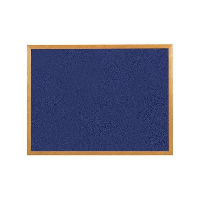 5 Star Felt Noticeboard 1200x900mm Wooden Frame Blue