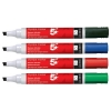 5 Star Drywipe Marker Chisel Tip Assorted [Wallet 6]