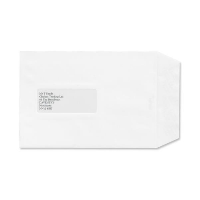 Croxley Script Envelopes Pocket Peal and Seal Window Pure White C5 [Pack 500]