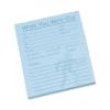 Message Pad While You Were Out 80 Sheets 127x102mm Pale Blue Paper [Pack 10]
