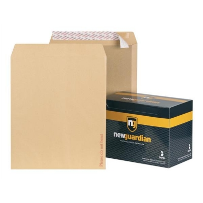 New Guardian Envelopes Heavyweight Board Backed Peel and Seal Manilla 444x368mm [Pack 50]