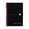 Black n Red Notebook Soft Cover Wirebound Perforated 90gsm Ruled 100pp A6 Ref 100080490 [Pack 10]