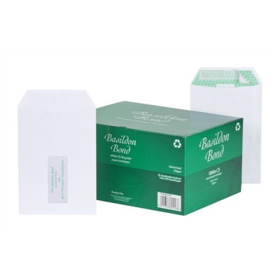 Basildon Bond Envelopes Pocket Peel and Seal Window 120gsm White C5 [Pack 500]