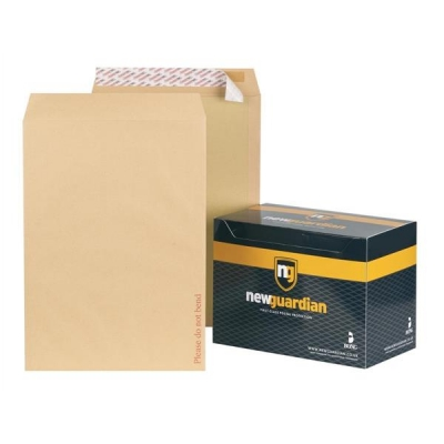 New Guardian Envelopes Heavyweight Board Backed Peel and Seal Manilla C3 [Pack 50]