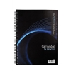 Cambridge Notebook Wirebound Punched 4 Holes 90gsm Ruled and Margin 160pp A4 Ref 100080545 [Pack 3]