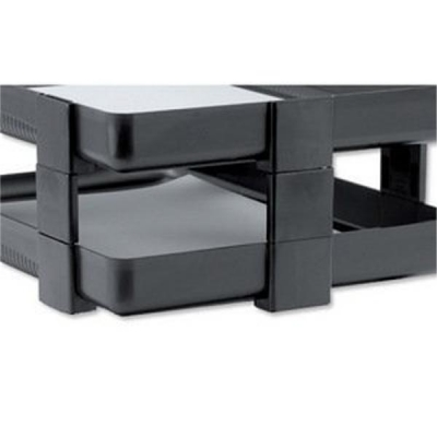 Rexel Agenda Classic Risers Self-locking for Letter Trays 53mm Charcoal Ref 25224 [Pack 5]