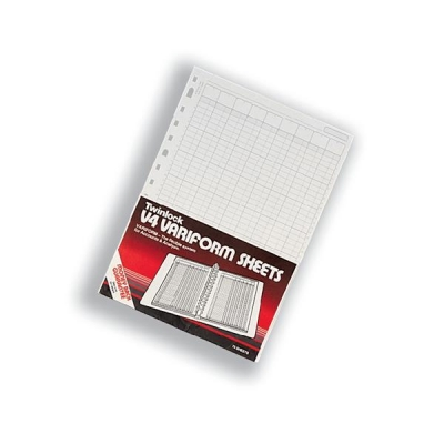 Twinlock V4 Variform 4 Column Cash Sheets Ref 75930 [Pack 75]