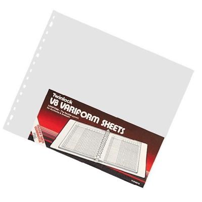 Twinlock V8 Variform 14 Column Cash Sheets 80gsm Ref 75984 [Pack 75]